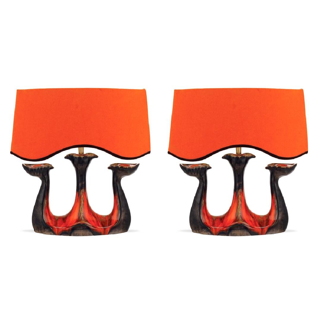 Pair of table lamps France 20th century h. 40 cm.