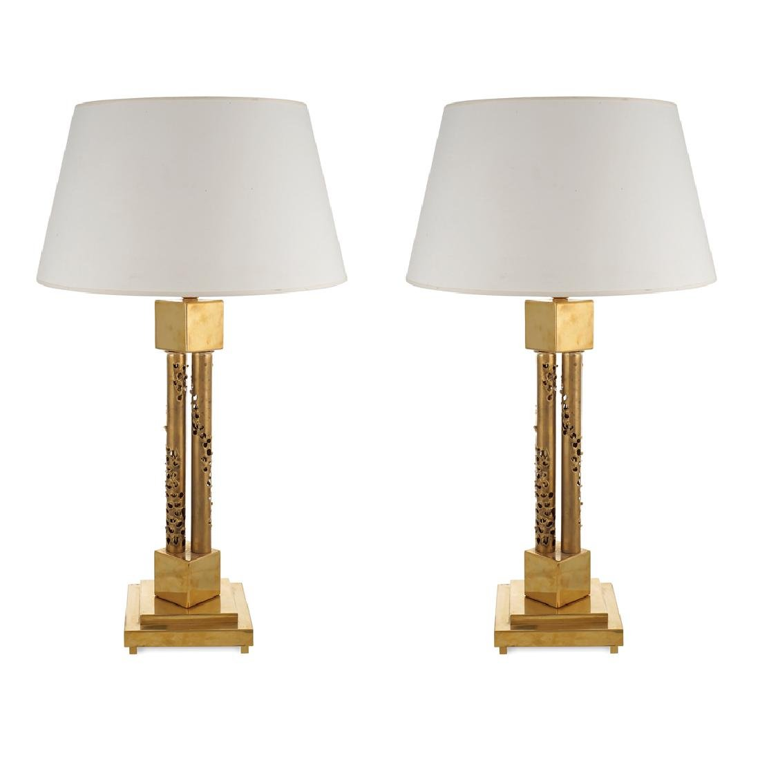 Pair of table lamps France 20th century h. 80 cm.