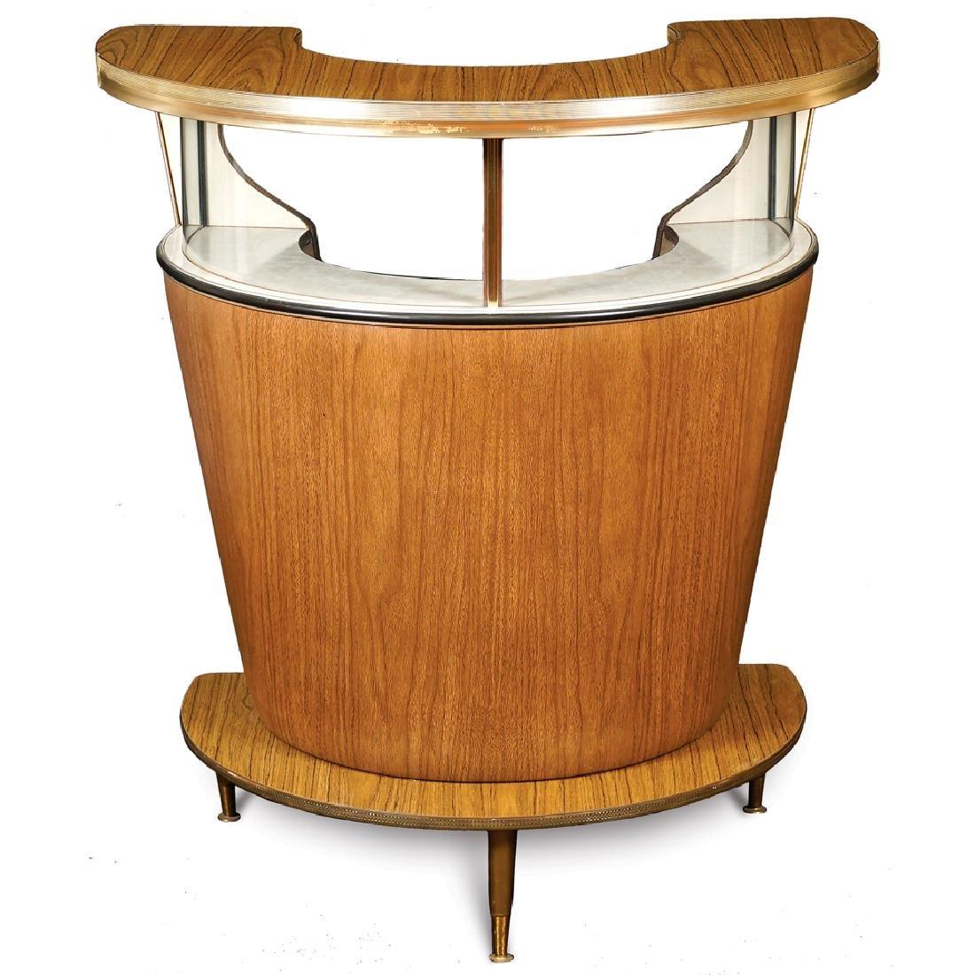 Crescent-shaped bar cabinet 20th century 101x91x53 cm.