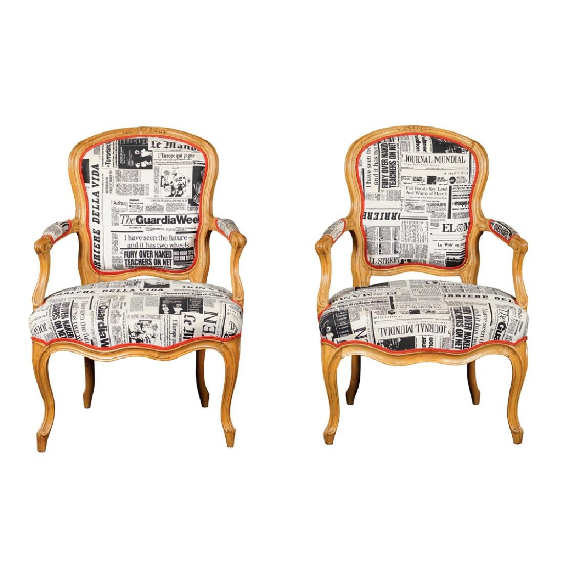 Pair of armchairs France early 20th century 86x60x46 cm