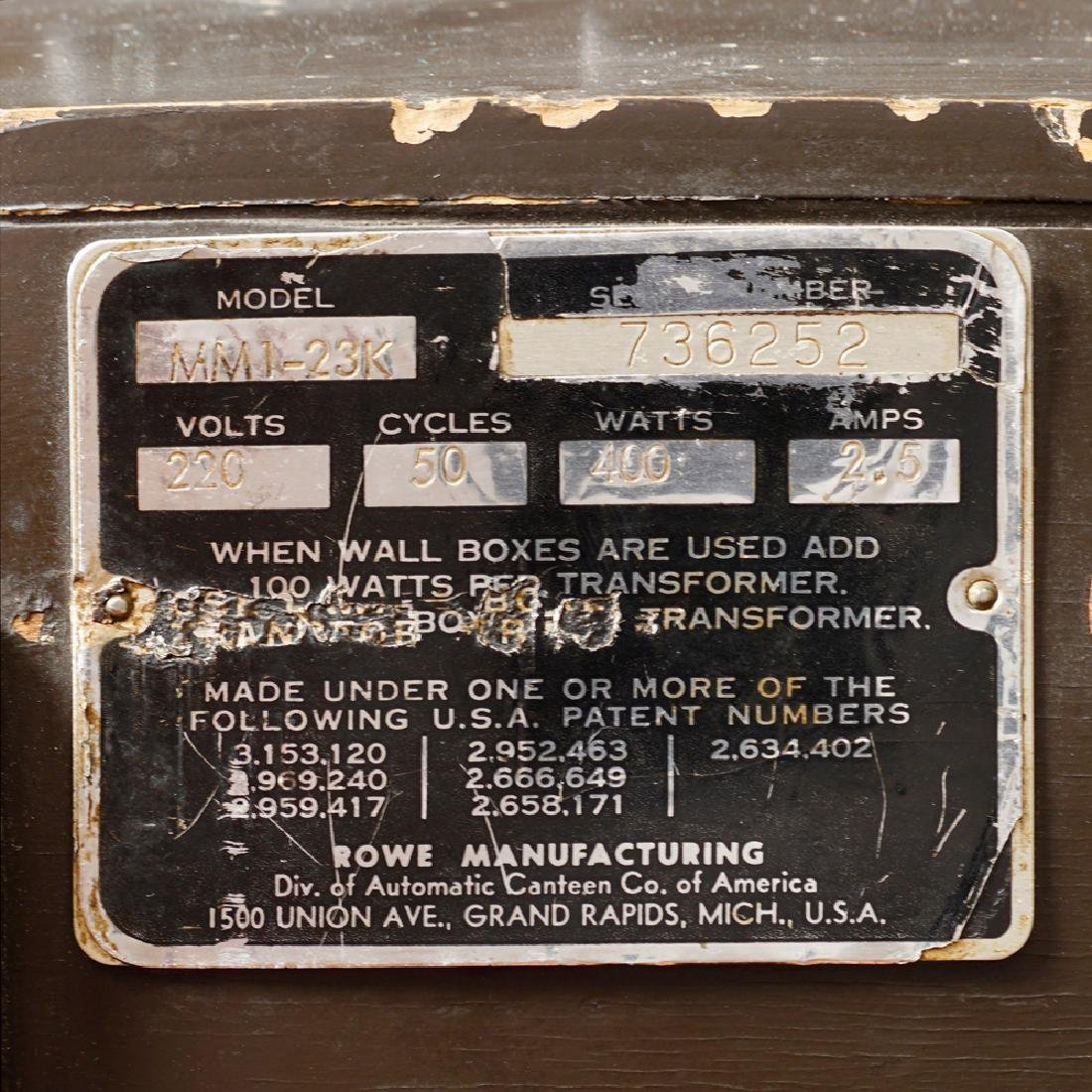 Rowe AMI juke box MM1-23K model United States around - 3