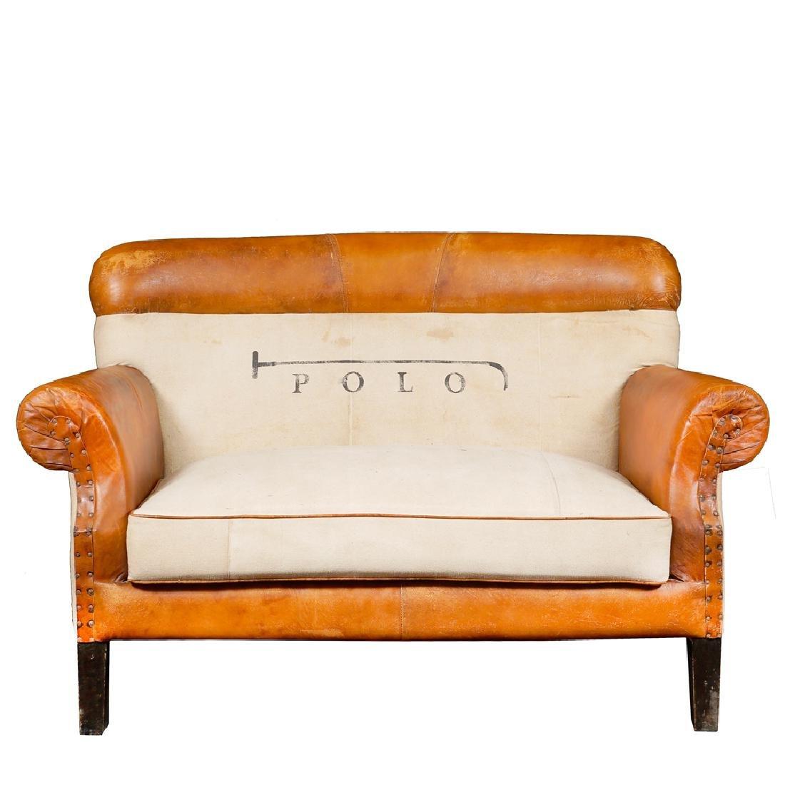Polo sofa 20th century 95x143x75 cm.