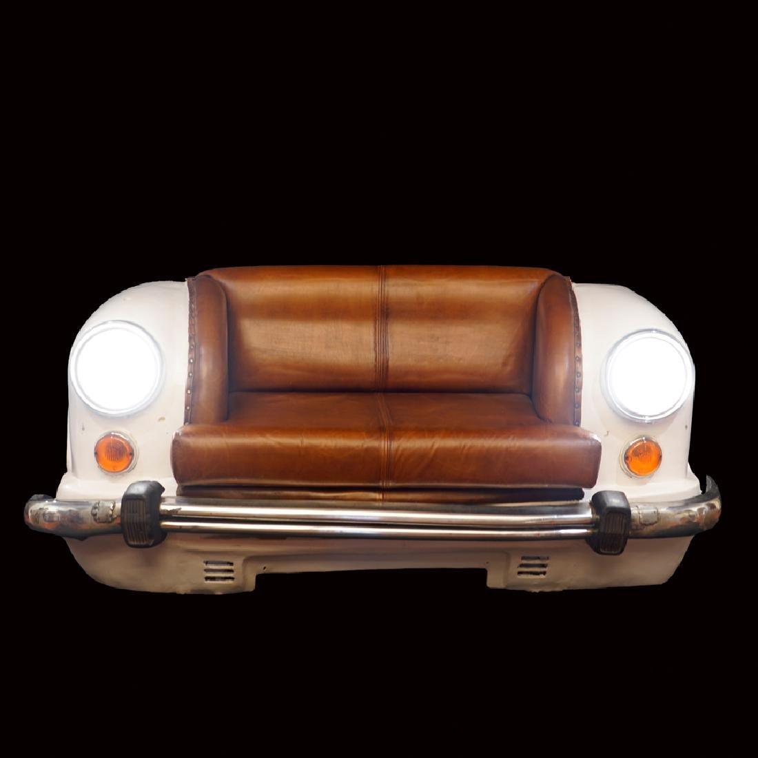 Fiat 850 sofa 20th century 75x150x80 cm. - 2