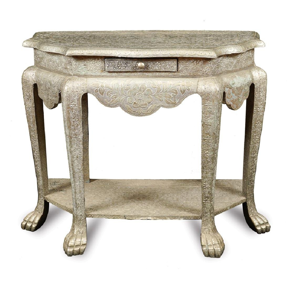 A wooden console Oriental manifacture 20th century