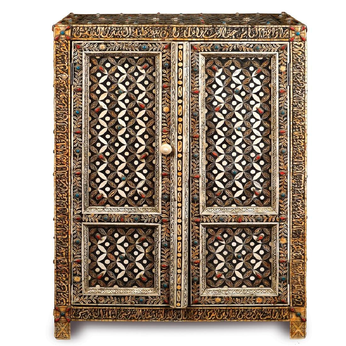 An ebonized wooden sideboard Oriental manifacture 20th
