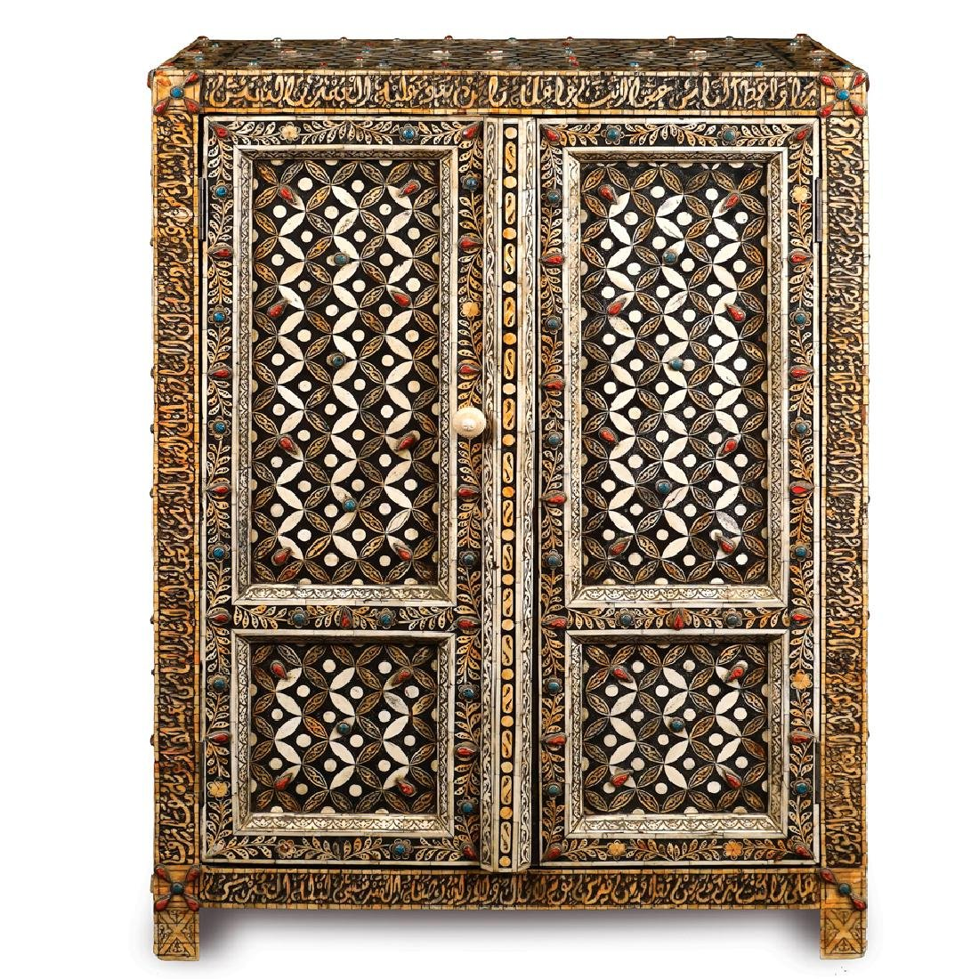 An ebonized wooden sideboard Oriental manifacture 20th