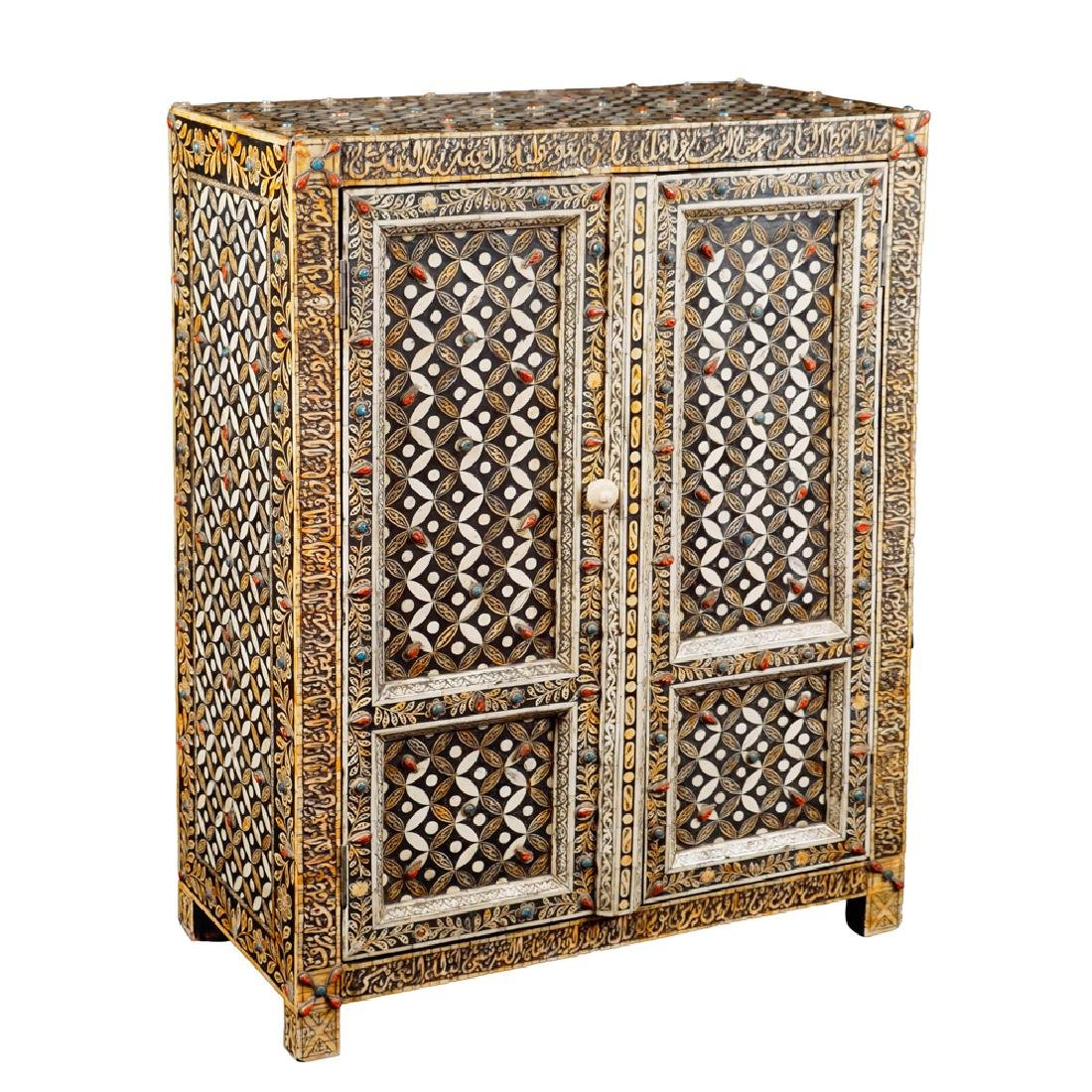 An ebonized wooden sideboard Oriental manifacture 20th - 2