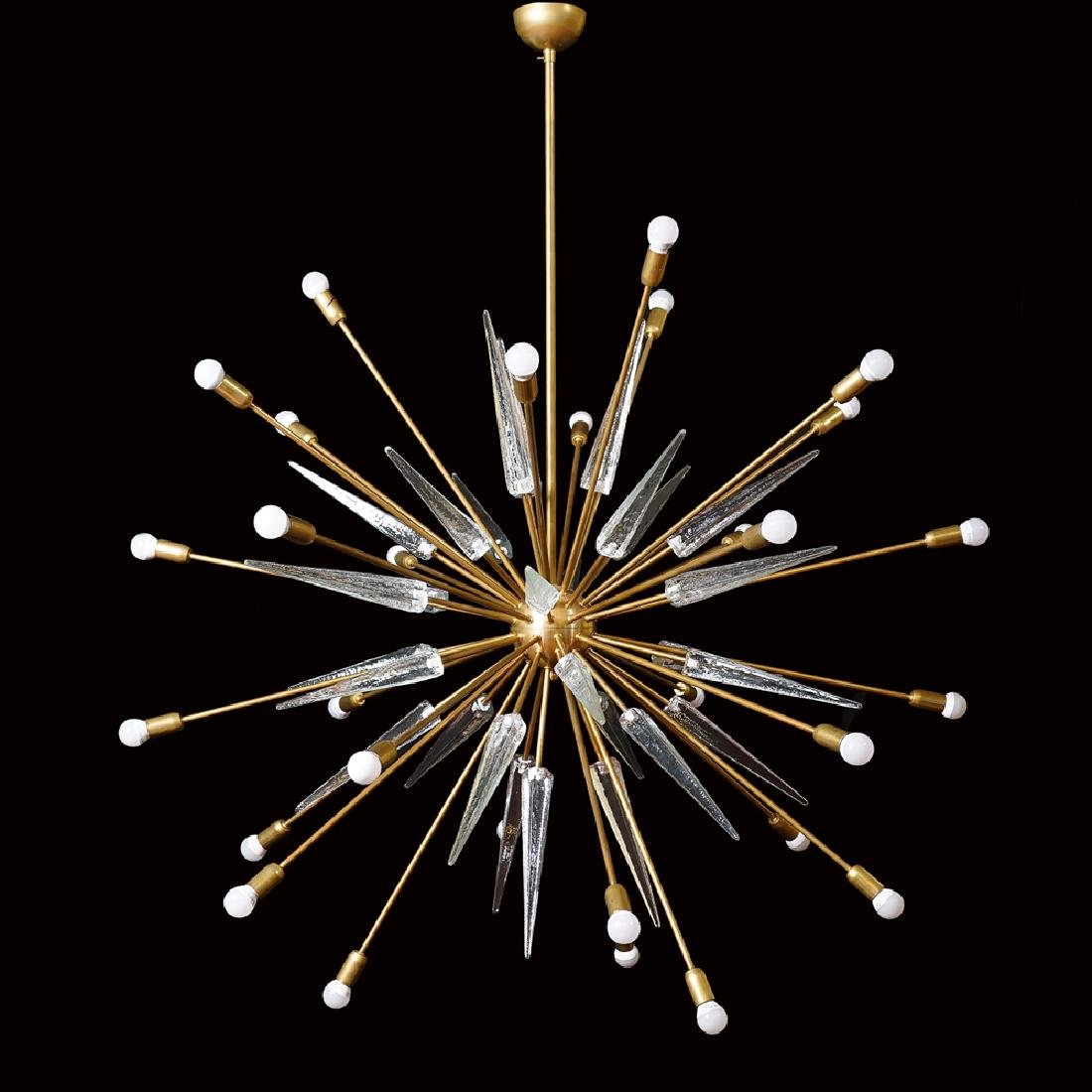 Sputnik model chandelier, Italy, 20th century