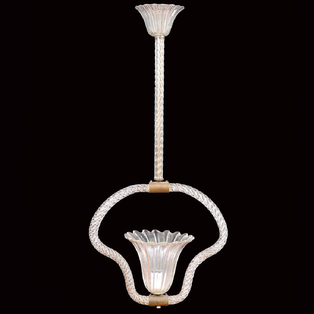 Glass chandelier Murano around 1950 90x40 cm.