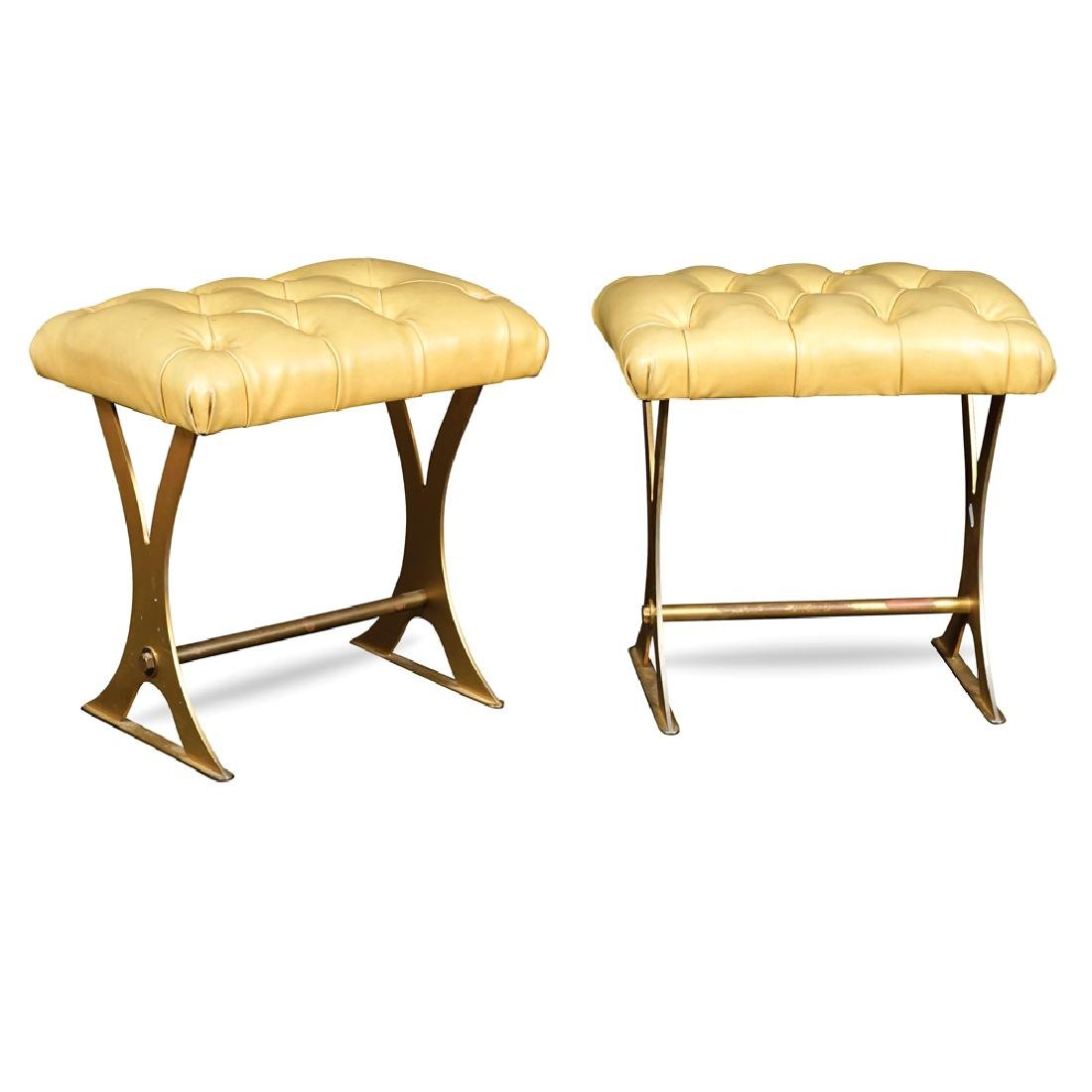 Pair of stools France 20th century 40x43x30 cm.