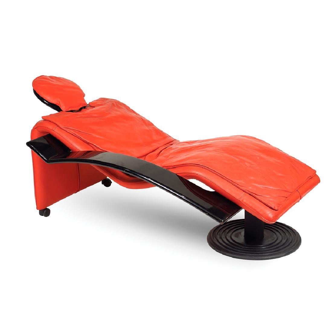 Chaise longue design 20th century 90x155x80 cm.