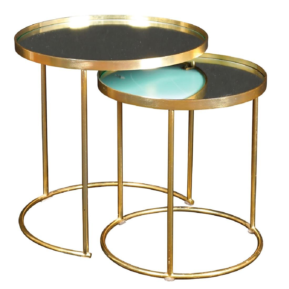 Set of snap-fit tables Italy 1970-80 46x44 cm.