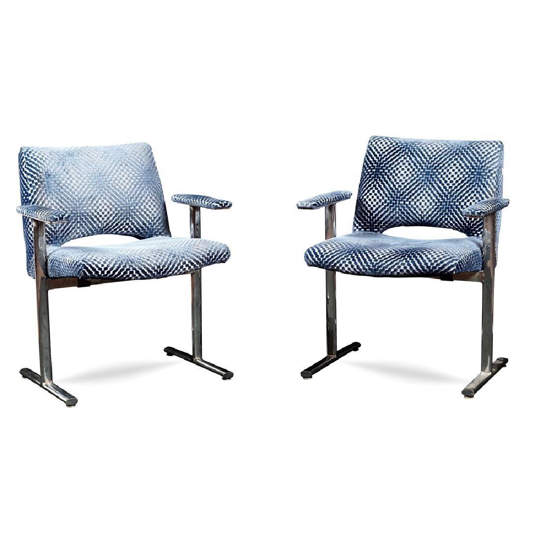 Pair of design armchairs Italy 20th century