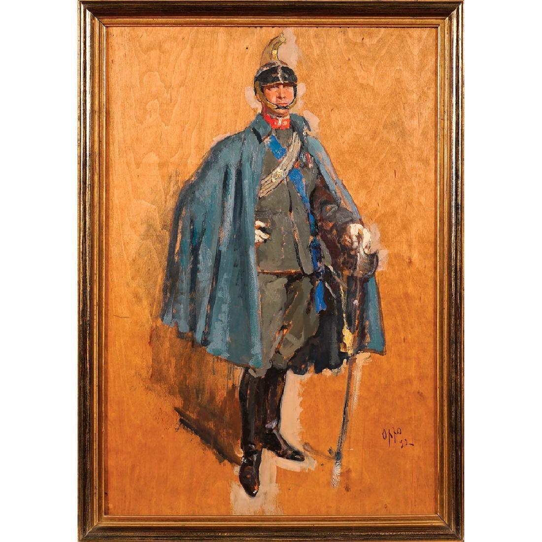 Cipriano Efisio Oppo Roma 1891 - 1962 62x42 cm.