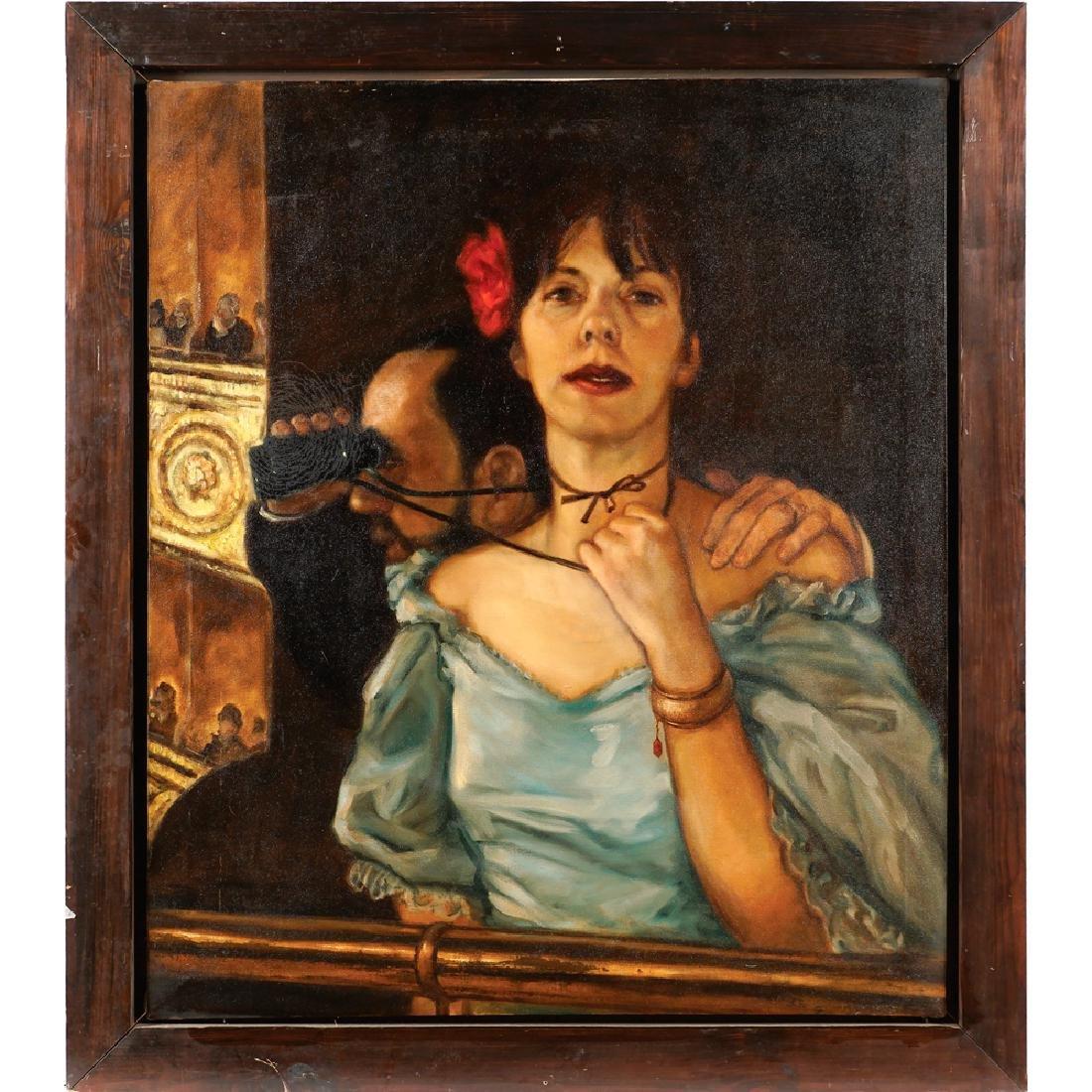 English painter early 20th century 100x85 cm.