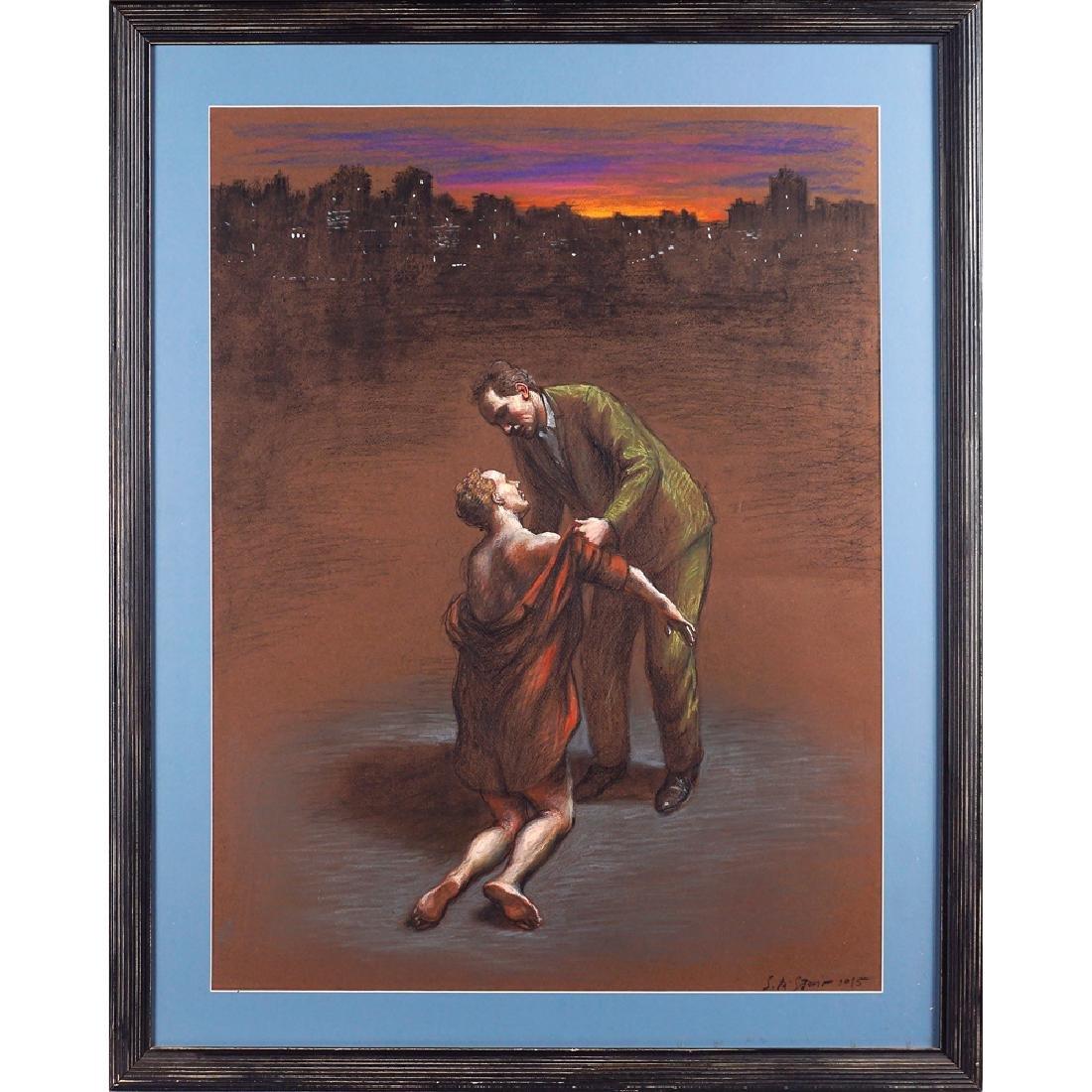 Stefano Di Stasio Napoli 1948 65x50 cm.