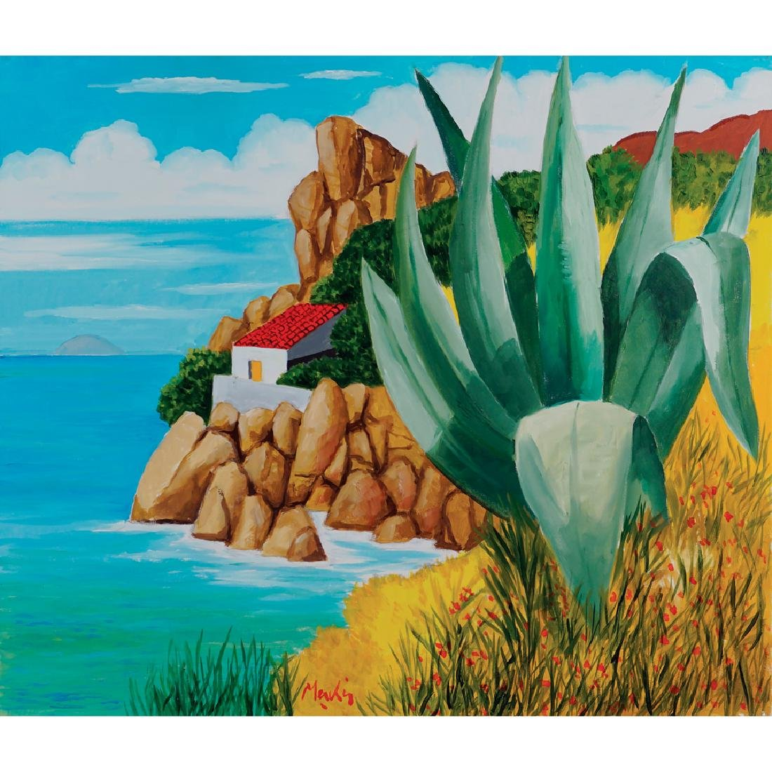 Renzo Meschis Palermo 1945 60x70 cm.