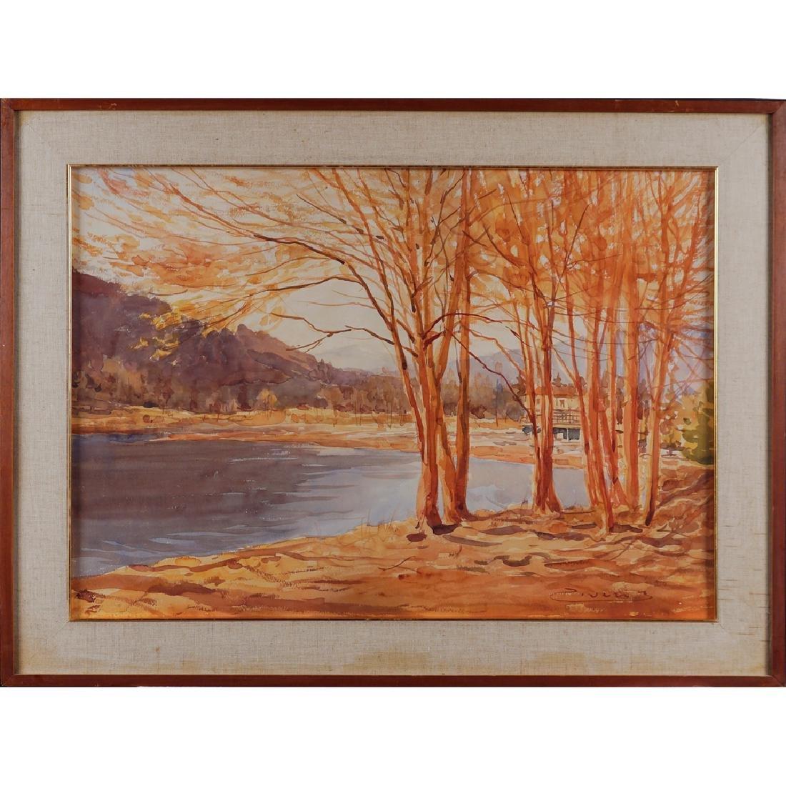 Umberto Ziveri Milano 1891 - 1971 50x70 cm.