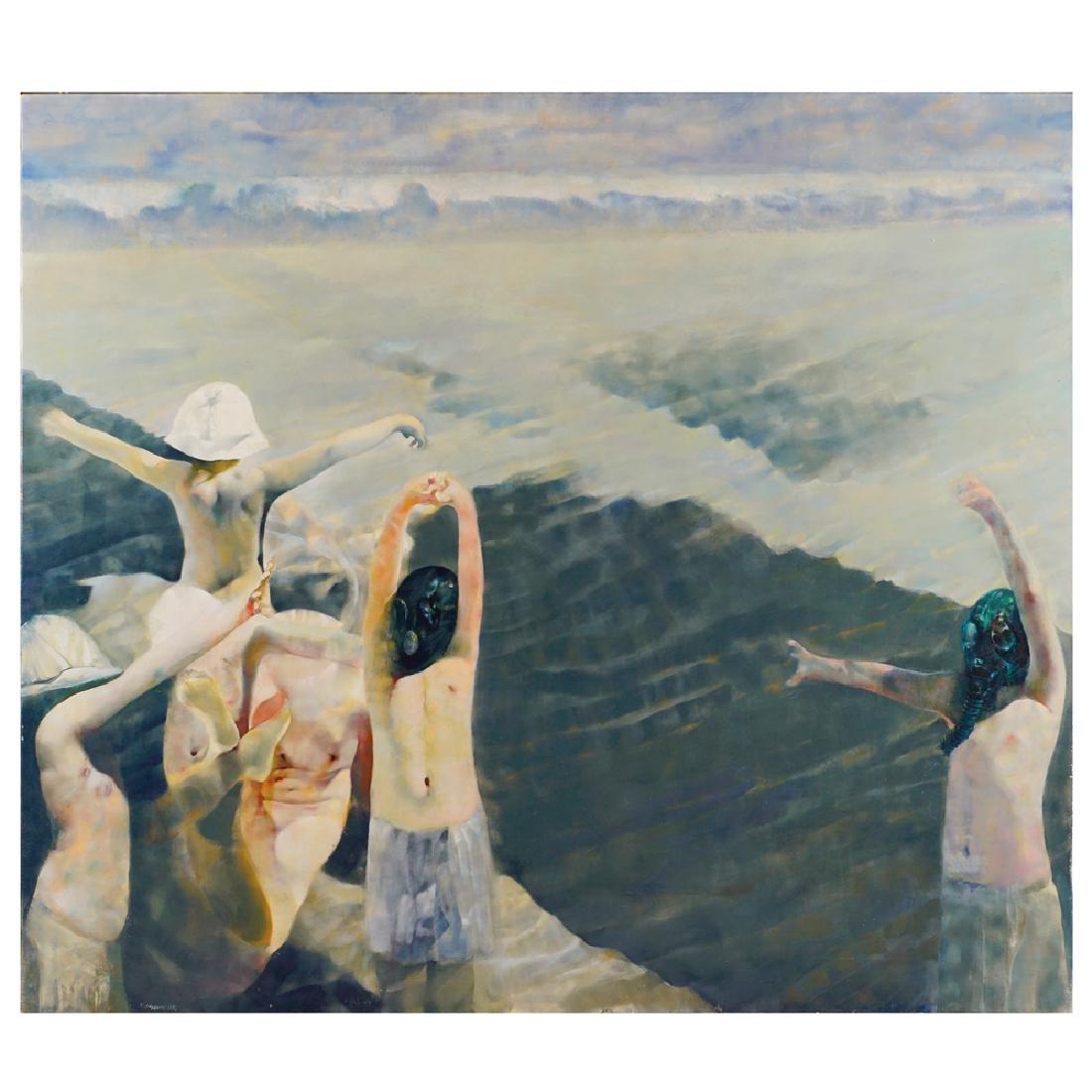Renzo Vespignani Roma 1924 - 2001 170x195 cm.