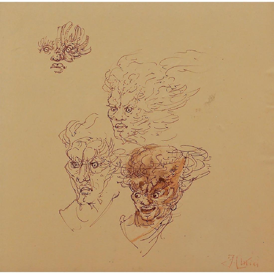 Fabrizio Clerici Milano 1913 - Roma 1993 22x22 cm.