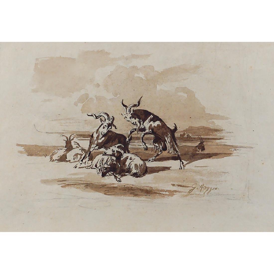 Giuseppe Raggio Chiavari 1823 - Roma 1916 16x23 cm.