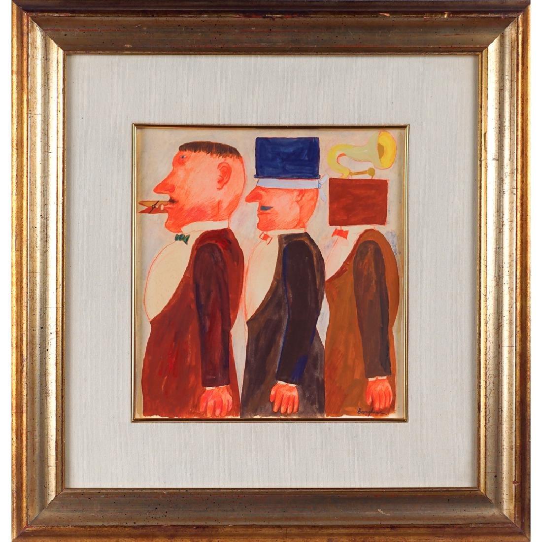 Franz Borghese Roma 1941 - 2005 31x28.5 cm.