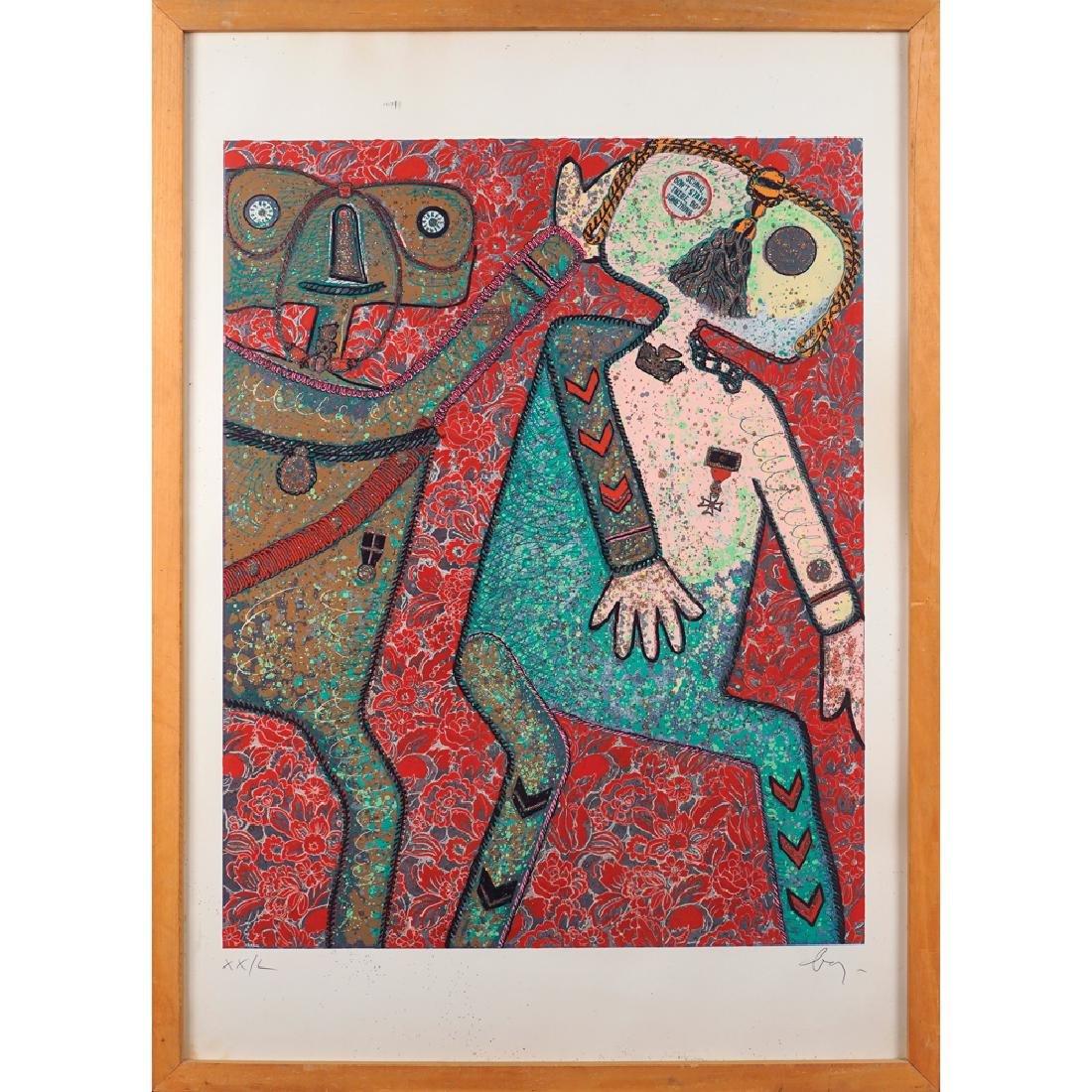 Enrico Baj Milano 1924 - Vergiate 2003 100x70 cm.