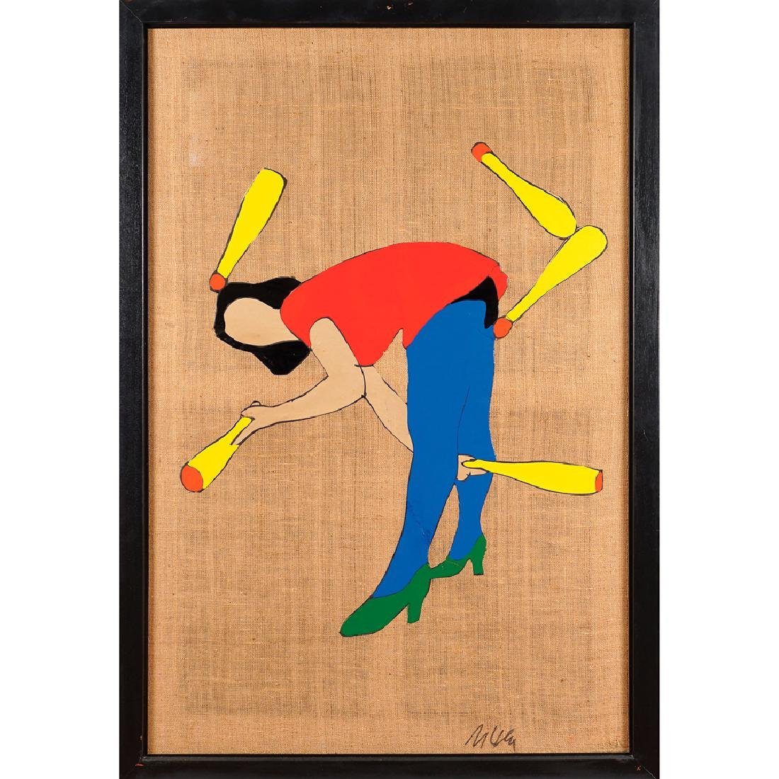 Marco Lodola Dorno 1955 100x150 cm.