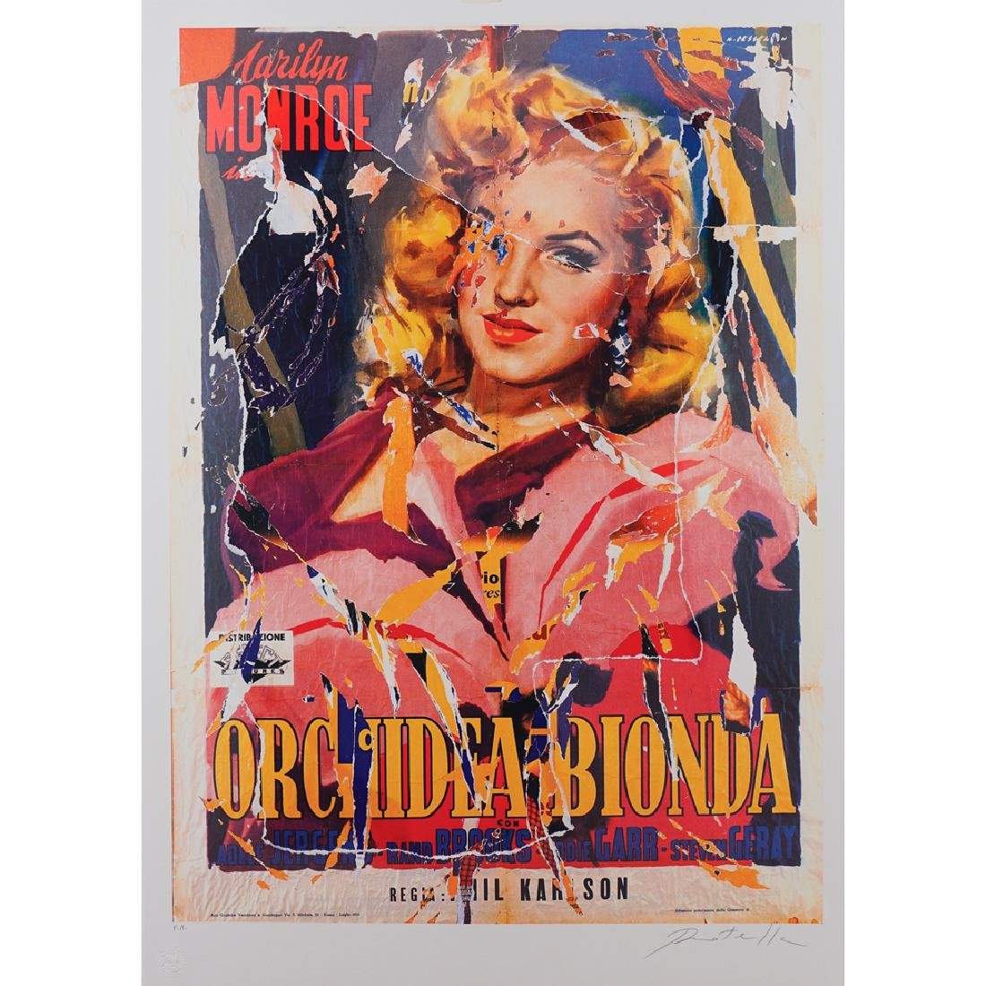 Mimmo Rotella Catanzaro 1918 - Milano 2006 100x70 cm.