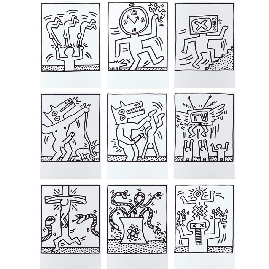 Keith Haring Reading 1958 - New York 1990 47.3x33.5 cm.