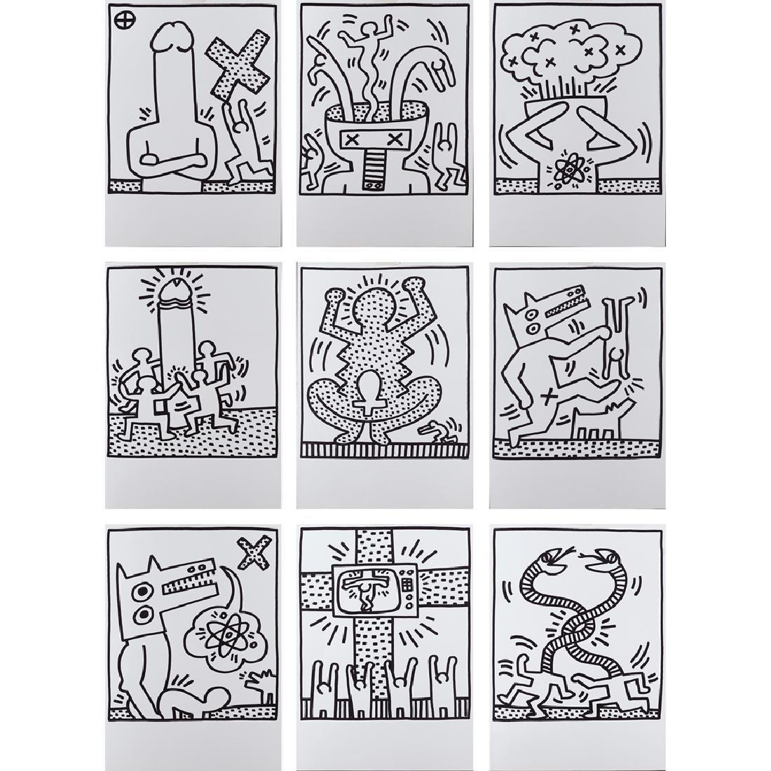 Keith Haring Reading 1958 - New York 1990 47.3x33.5 cm.