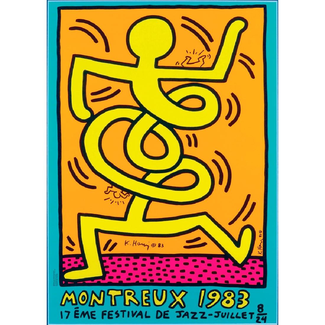 Keith Haring Reading 1958 - New York 1990 100x70 cm.