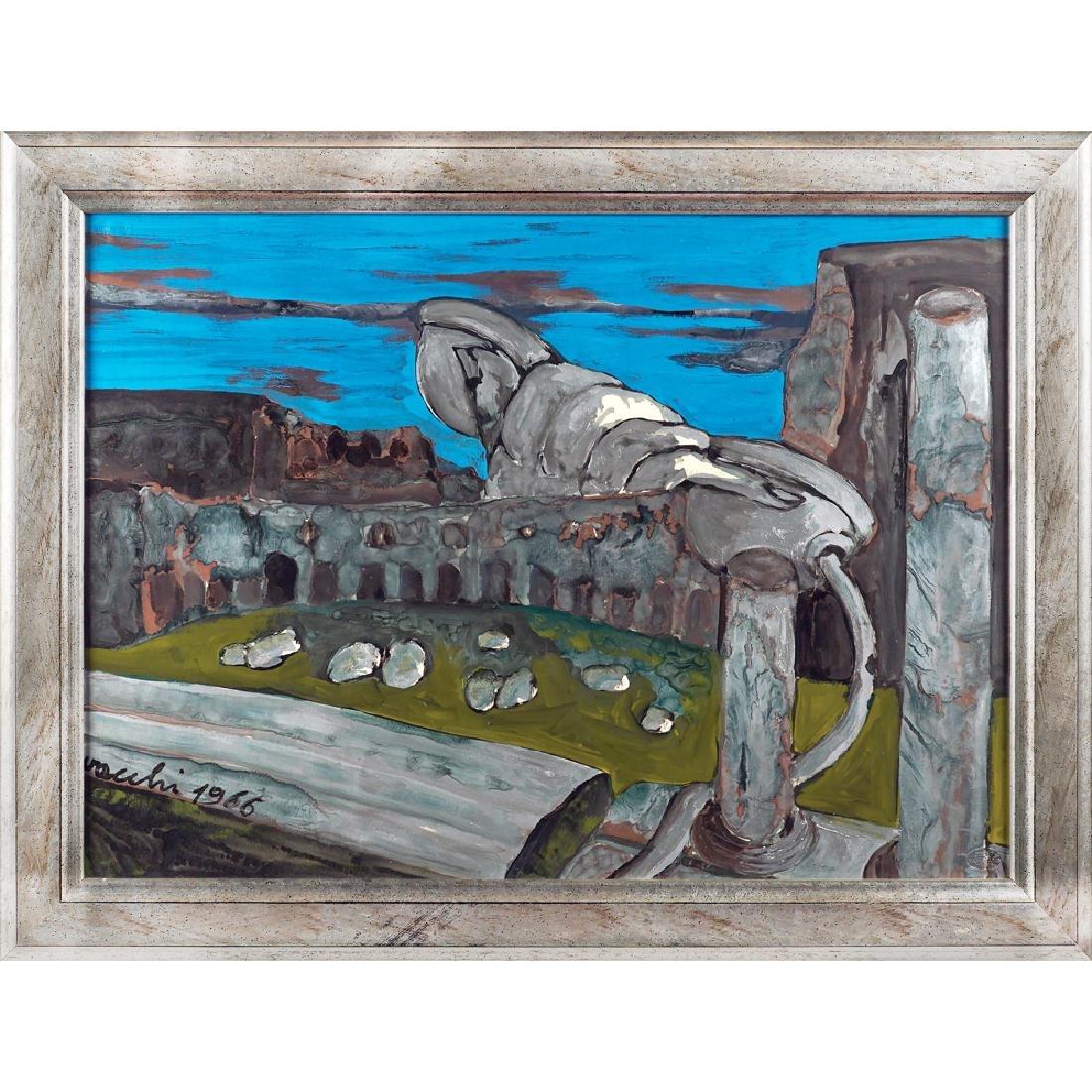 Sergio Vacchi Castenaso 1925 - Siena 2016 50x70 cm.