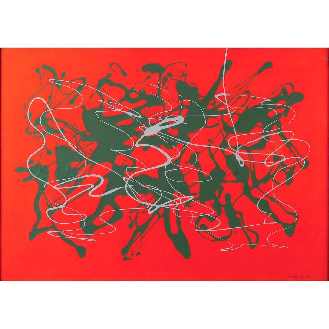 Giulio Turcato Mantova 1912- Rome 1995 50x70 cm.