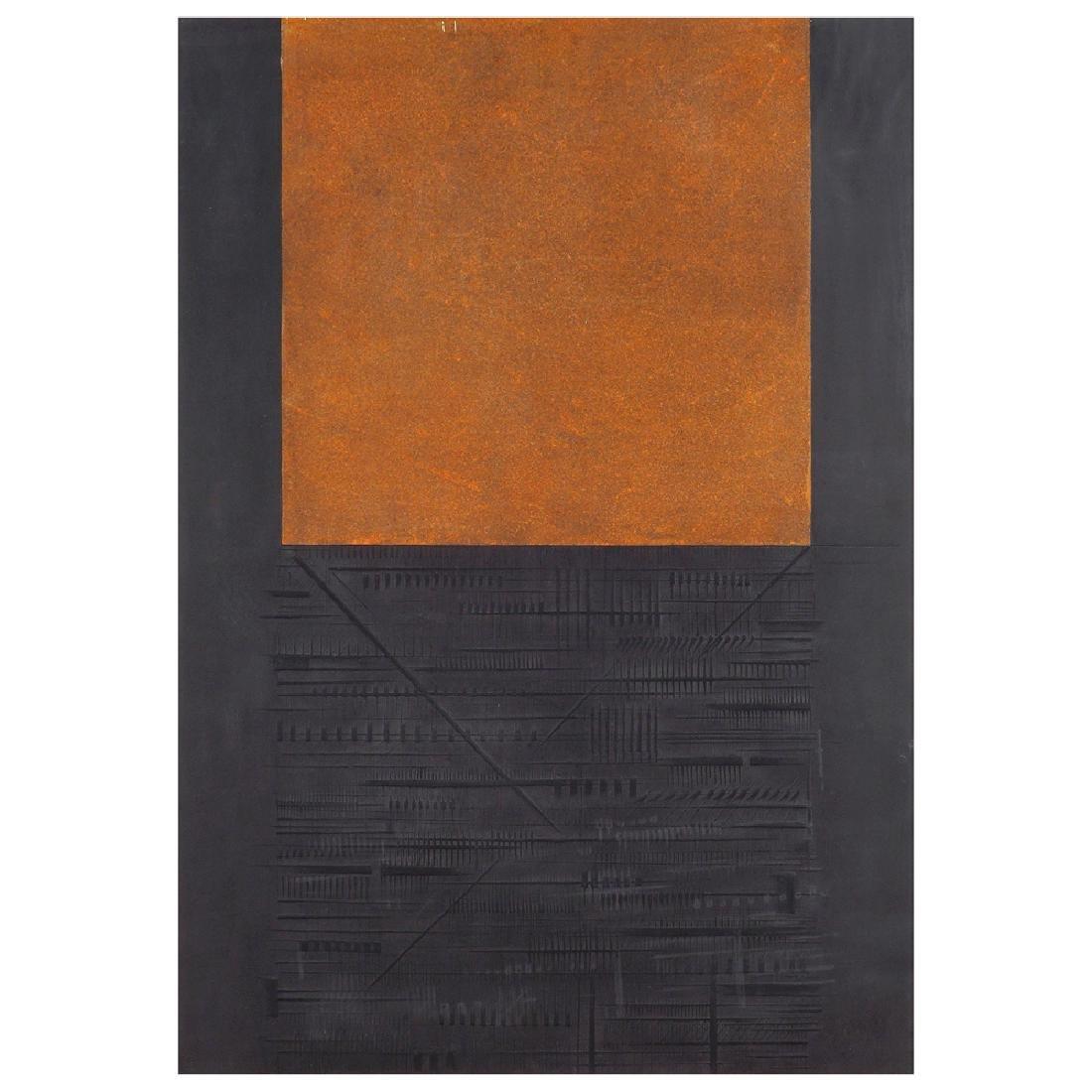 Arnaldo Pomodoro Morciano di Romagna 1926 100x70 cm.