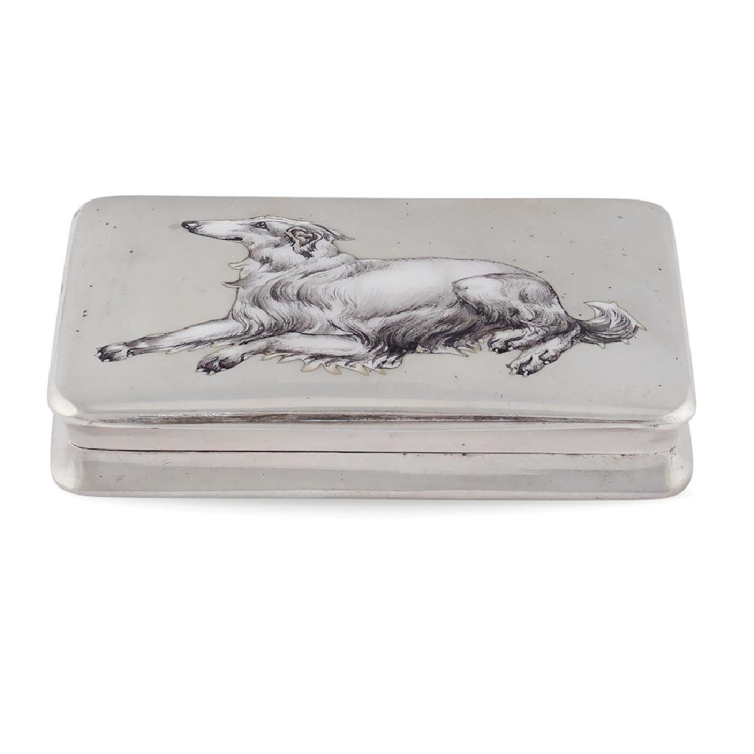 Silver and polychrome enamel snuff box early 20th