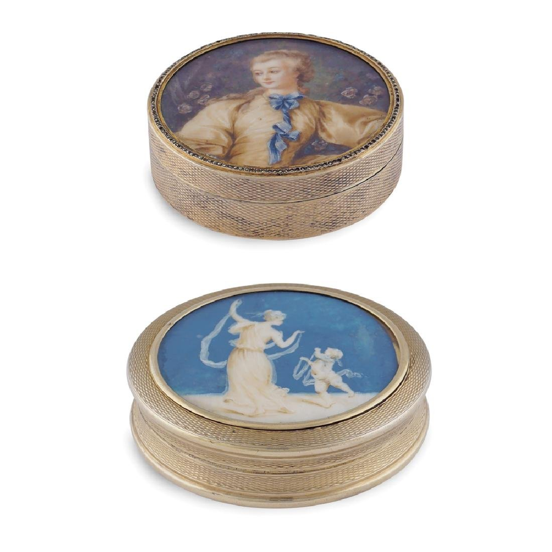 Two silver and vermeil silver boxes France, 19th - 20th
