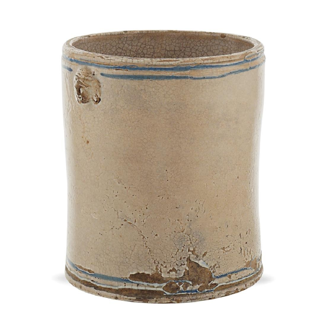 Majolica cylindrical container Italian manifacture,