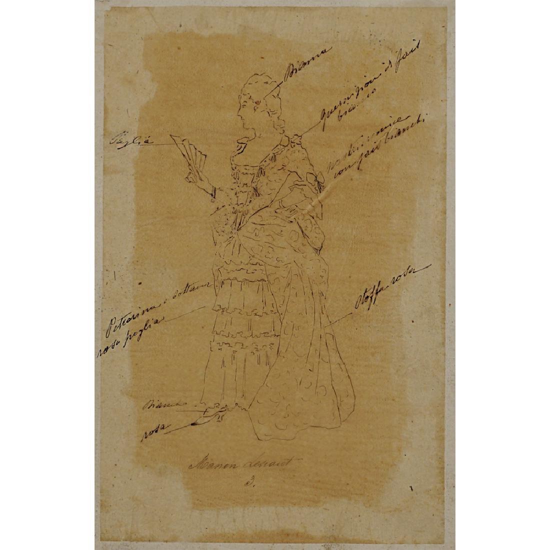 "Costume sketches for ""Manon Lescaut"" Italy, 1900 circa"