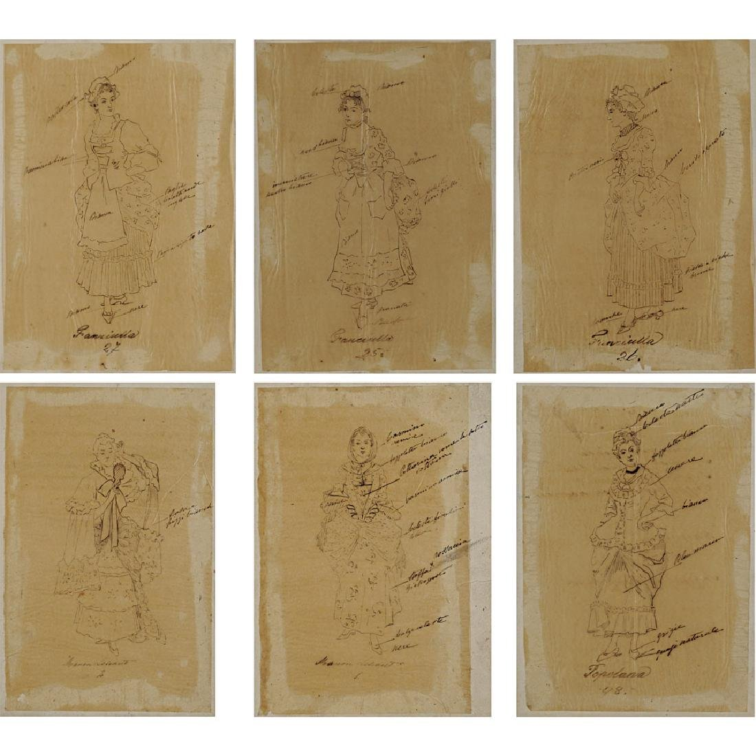"Costume sketches for ""Manon Lescaut"" Italy, 1900 circa - 2"