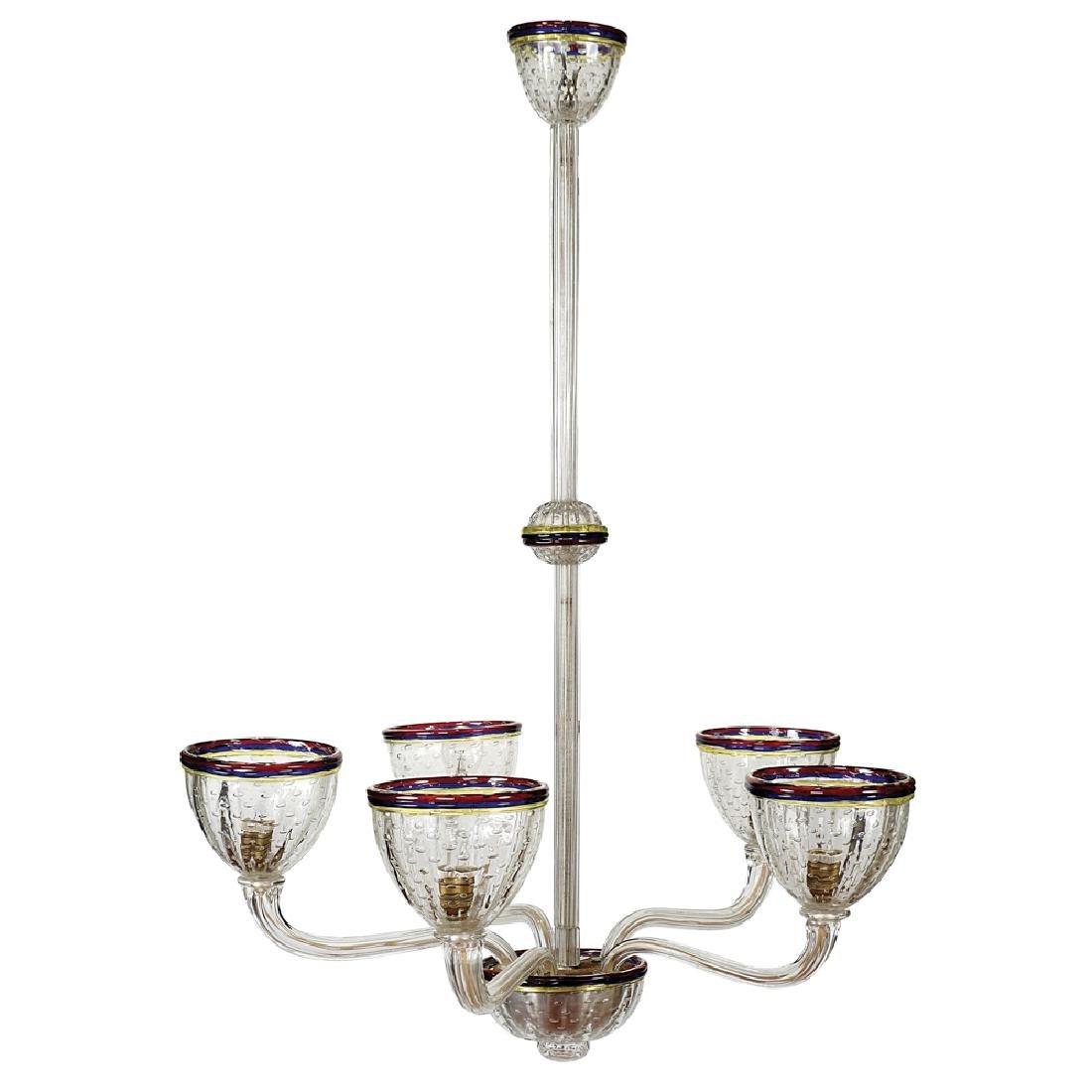 Hanging lamp Murano, 20th century h. 111 cm.