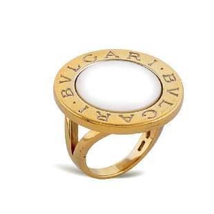 Bulgari 18kt gold ring weight 14 gr