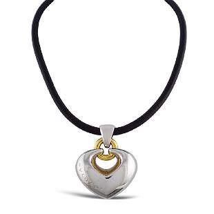 Bulgari heart pendant weight 35 gr