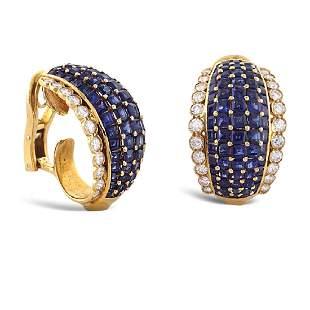 18kt gold bombe earrings 1950s1960s weight 22 gr