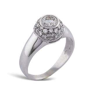 18kt white gold ring with diamonds weight 54 gr