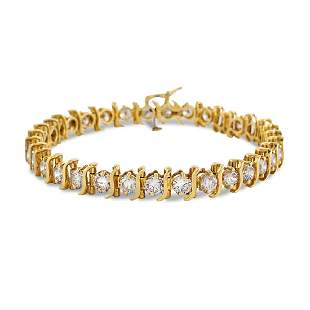14kt gold and diamond tennis bracelet weight 16 gr