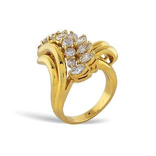 18kt gold and diamond ring weight 136 gr