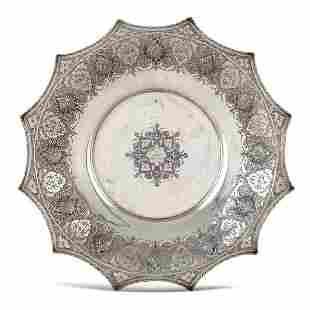 Silver stand Persia 20th century