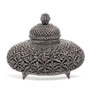 Silver box Oriental art 19th20th century