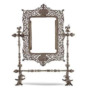 Silver table frame Oriental art 20th century